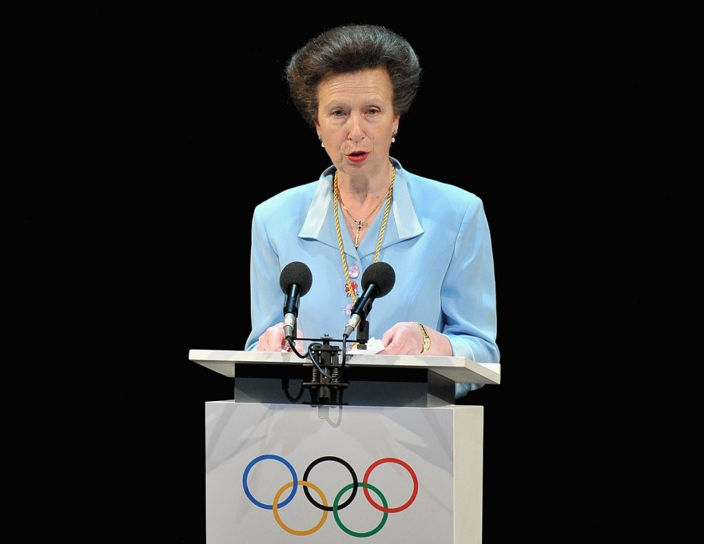 Princess Anne speaking during the Opening Ceremony of the 124th IOC Session