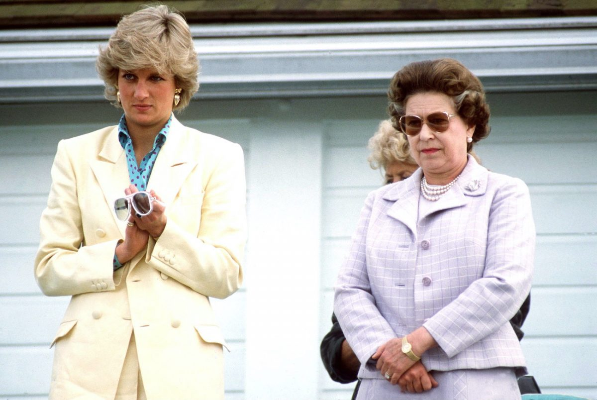 Princess Diana and Queen Elizabeth II at a polo match