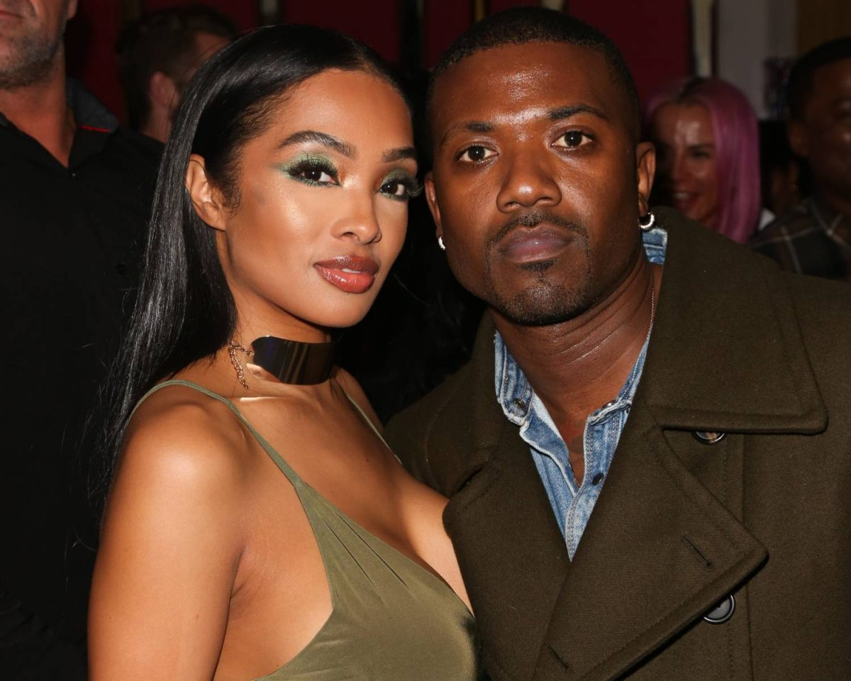Rapper Ray J (R) and his Wife Princess Love (L) attend Tyga's Birthday celebration at Delilah on November 19, 2018 in West Hollywood, California