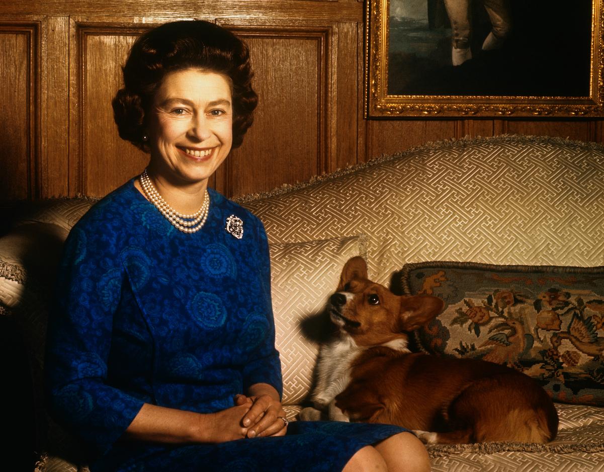 Queen Elizabeth II with her dog