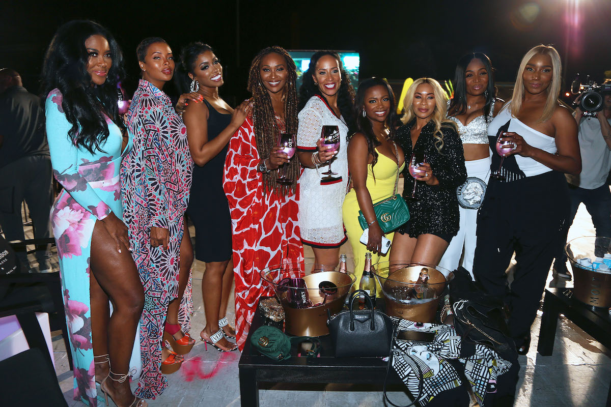 Kenya Moore, Eva Marcille, Porsha Williams, Cynthia Bailey, Tanya Sam, Kandi Burruss, Yovanna Logan, Marlo Hampton and NeNe Leakes of 'The Real Housewives of Atlanta'