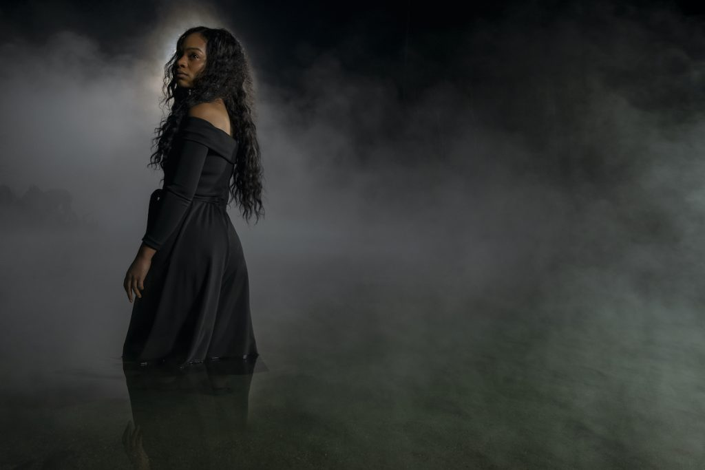 TAHIRAH SHARIF as REBECCA JESSEL in THE HAUNTING OF BLY MANOR