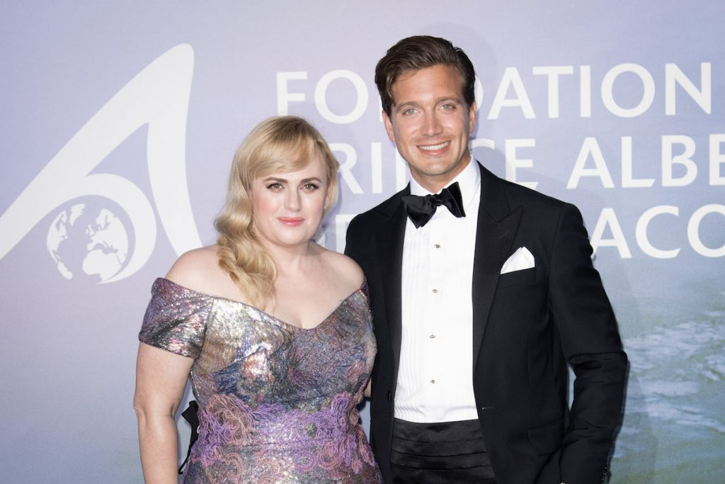 Rebel Wilson and Jacob Busch attend the Monte-Carlo Gala For Planetary Health.