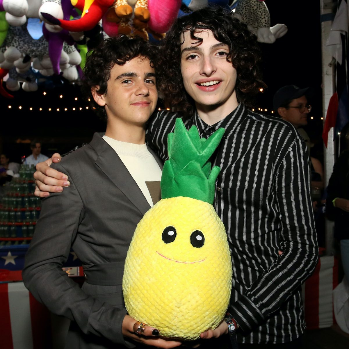 Jack Dylan Grazer and Finn Wolfhard attend the 'Stranger Things' Season 3 World Premiere on June 28, 2019