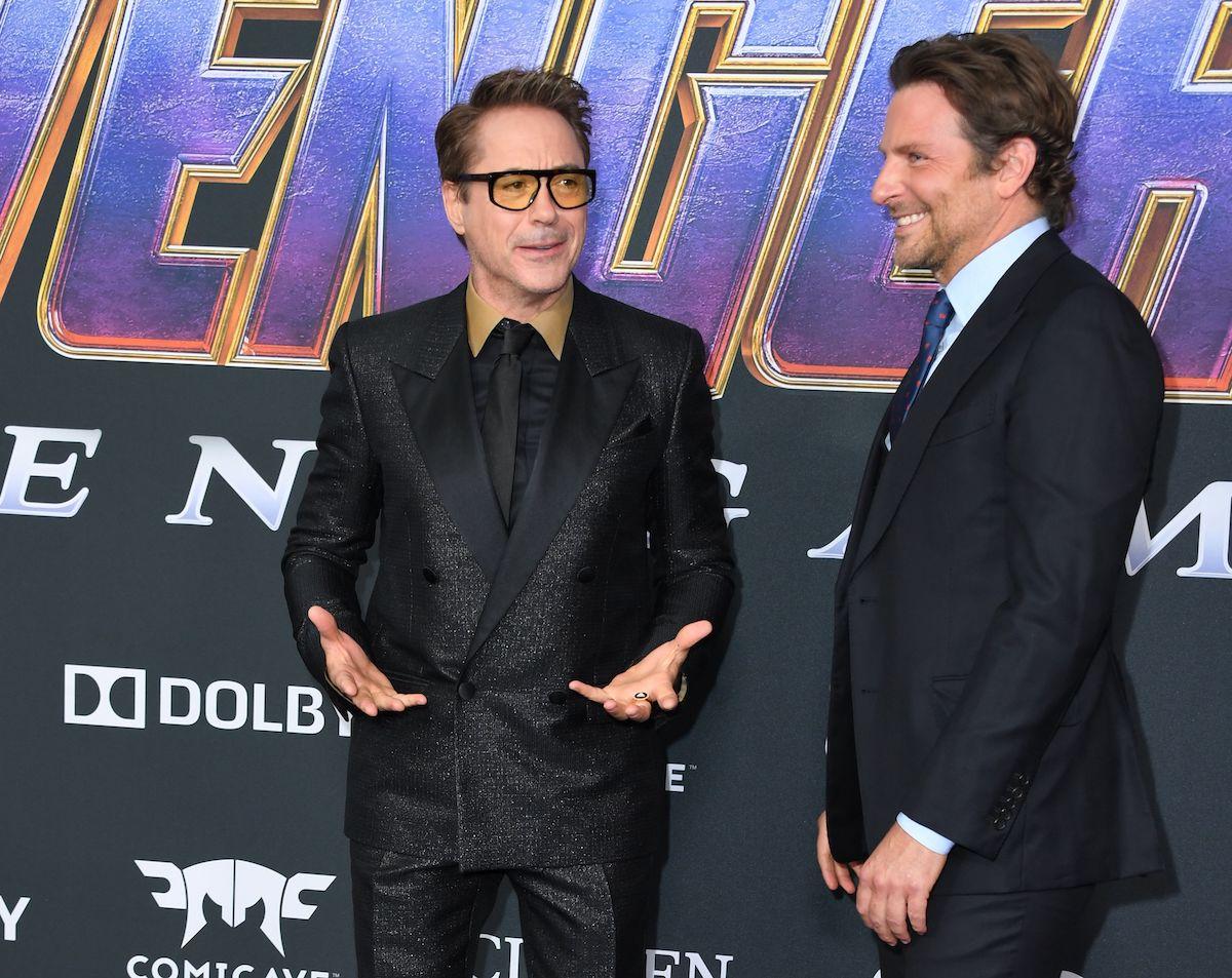 Robert Downey Jr. and Bradley Cooper at the 'Avengers: Endgame' premiere