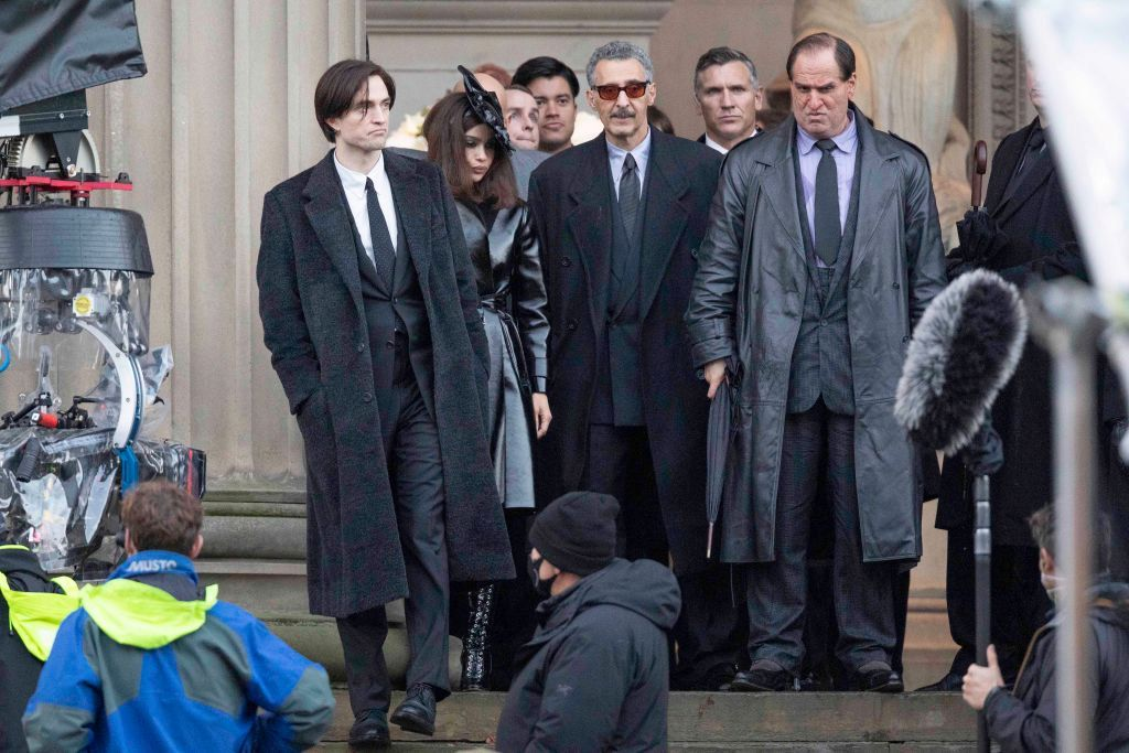 Robert Pattinson, Zoe Kravitz, John Turturo, and Colin Farrell