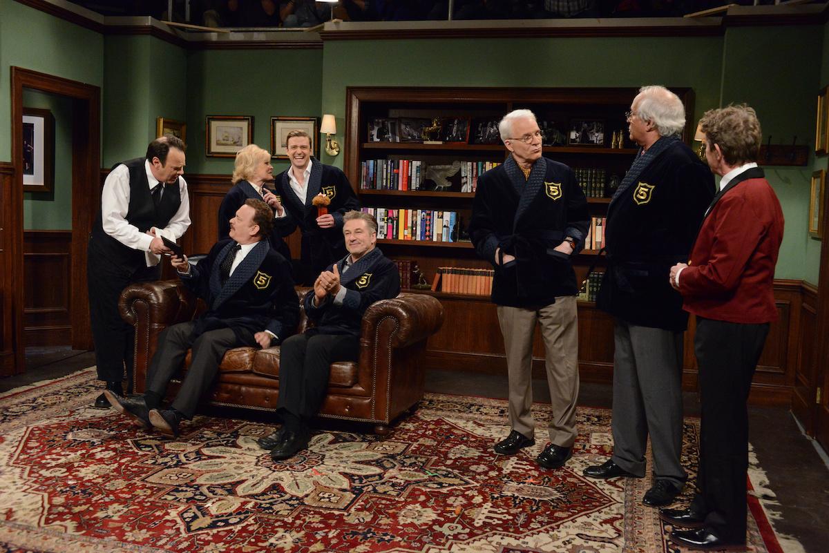 Dan Aykroyd, Tom Hanks, Candice Bergen, Justin Timberlake, Alec Baldwin, Steve Martin, Chevy Chase, Martin Short
