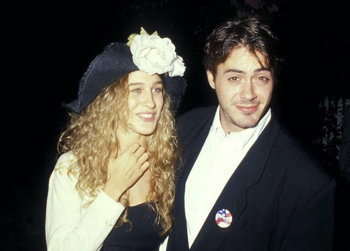 Sarah Jessica Parker and actor Robert Downey Jr.