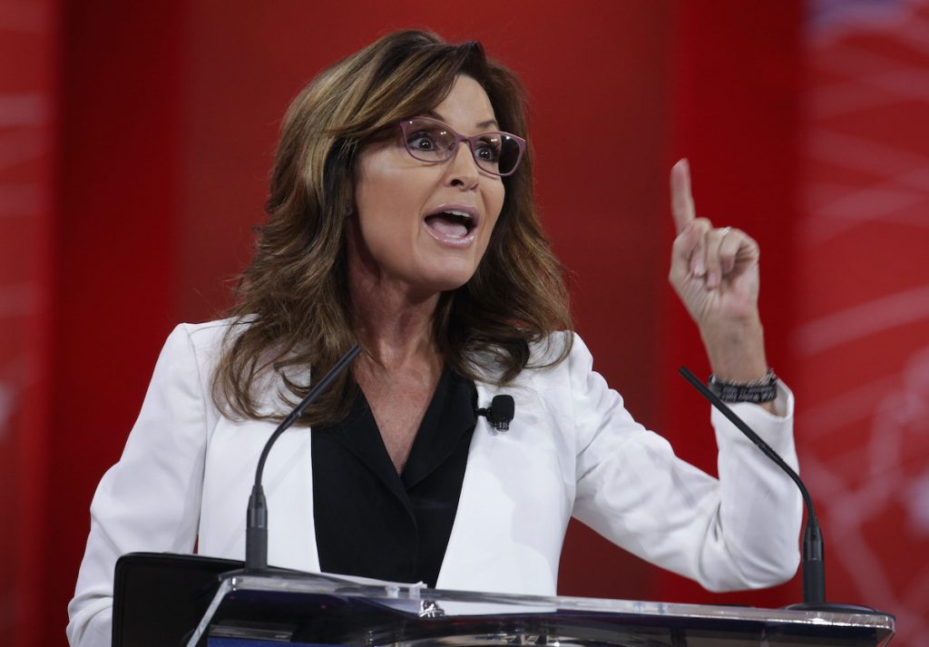 Former Alaska Governor Sarah Palin addresses the 42nd annual Conservative Political Action Conference (CPAC), February 26, 2015 | Alex Wong/Getty Images