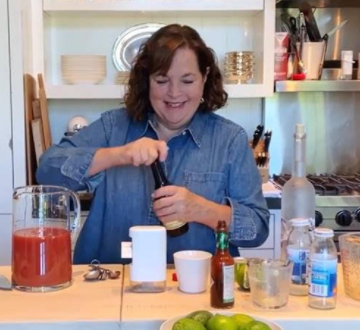 Ina Garten mixing a cocktail on her self-filmed new season of 'Barefoot Contessa'