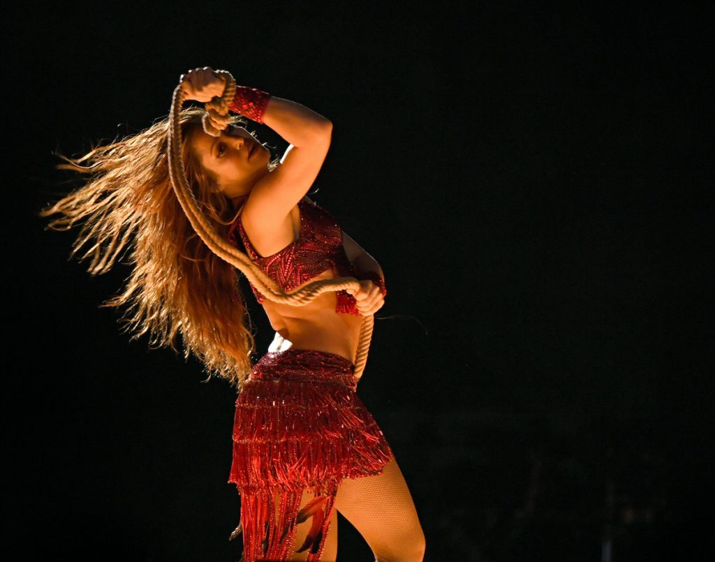 Shakira performs onstage during the Pepsi Super Bowl LIV Halftime Show at Hard Rock Stadium on February 02, 2020 in Miami, Florida | Kevin Winter/Getty Images