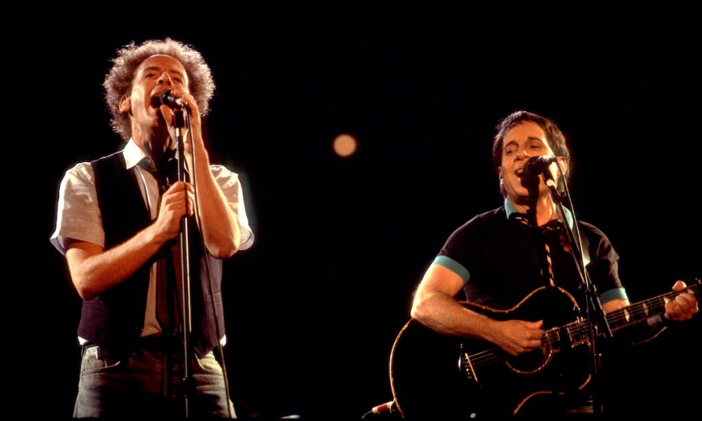 Simon and Garfunkel at Comiskey Park in Chicago, Illinois, July 24, 1983 | Paul Natkin/Getty Images