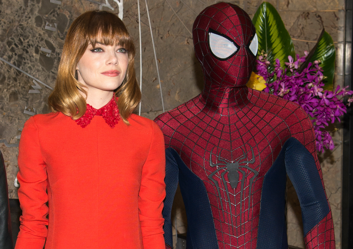 Emma Stone and Spider-Man visit The Empire State Building   Mike Pont/Getty Images
