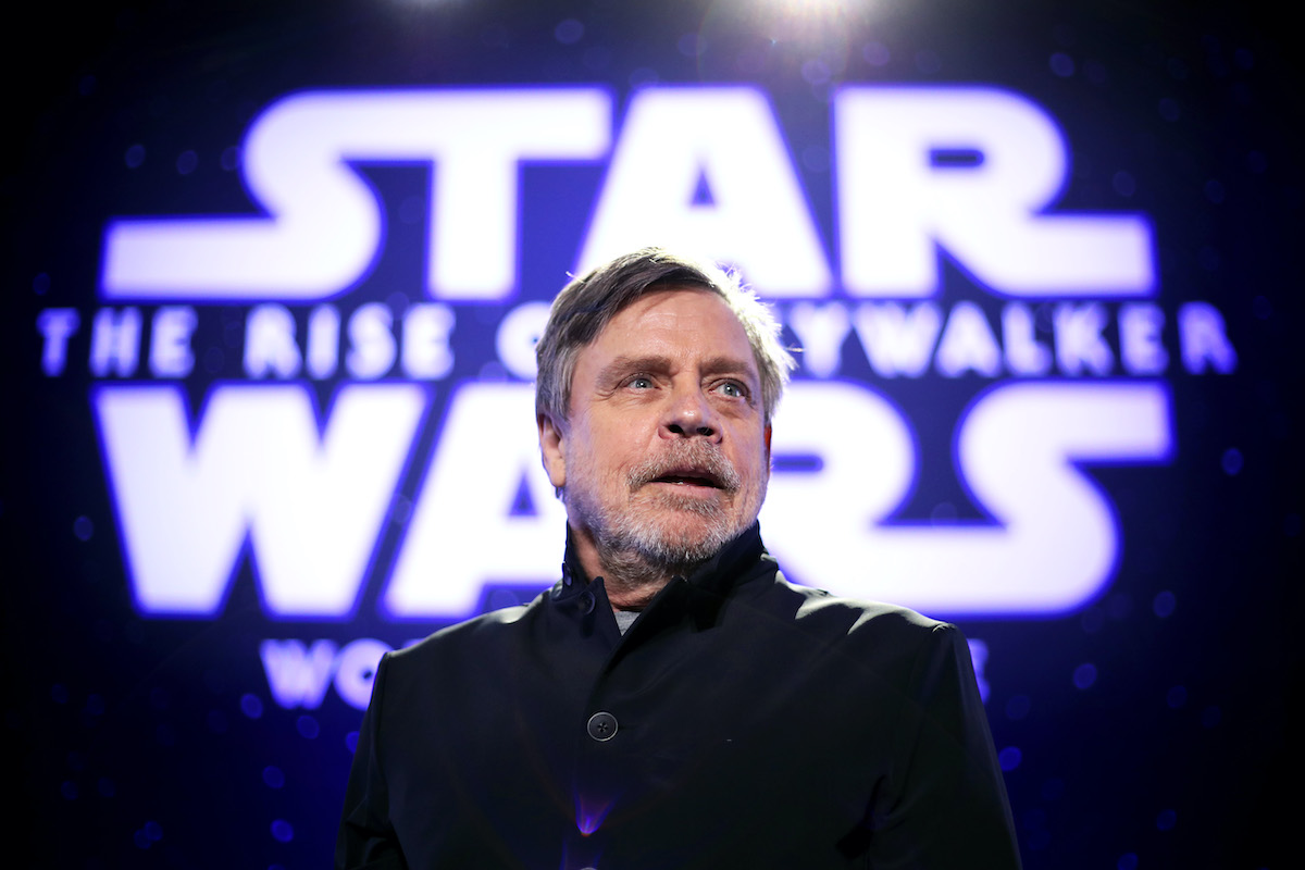 Mark Hamill at the premiere of 'Star Wars: The Rise Of Skywalker'