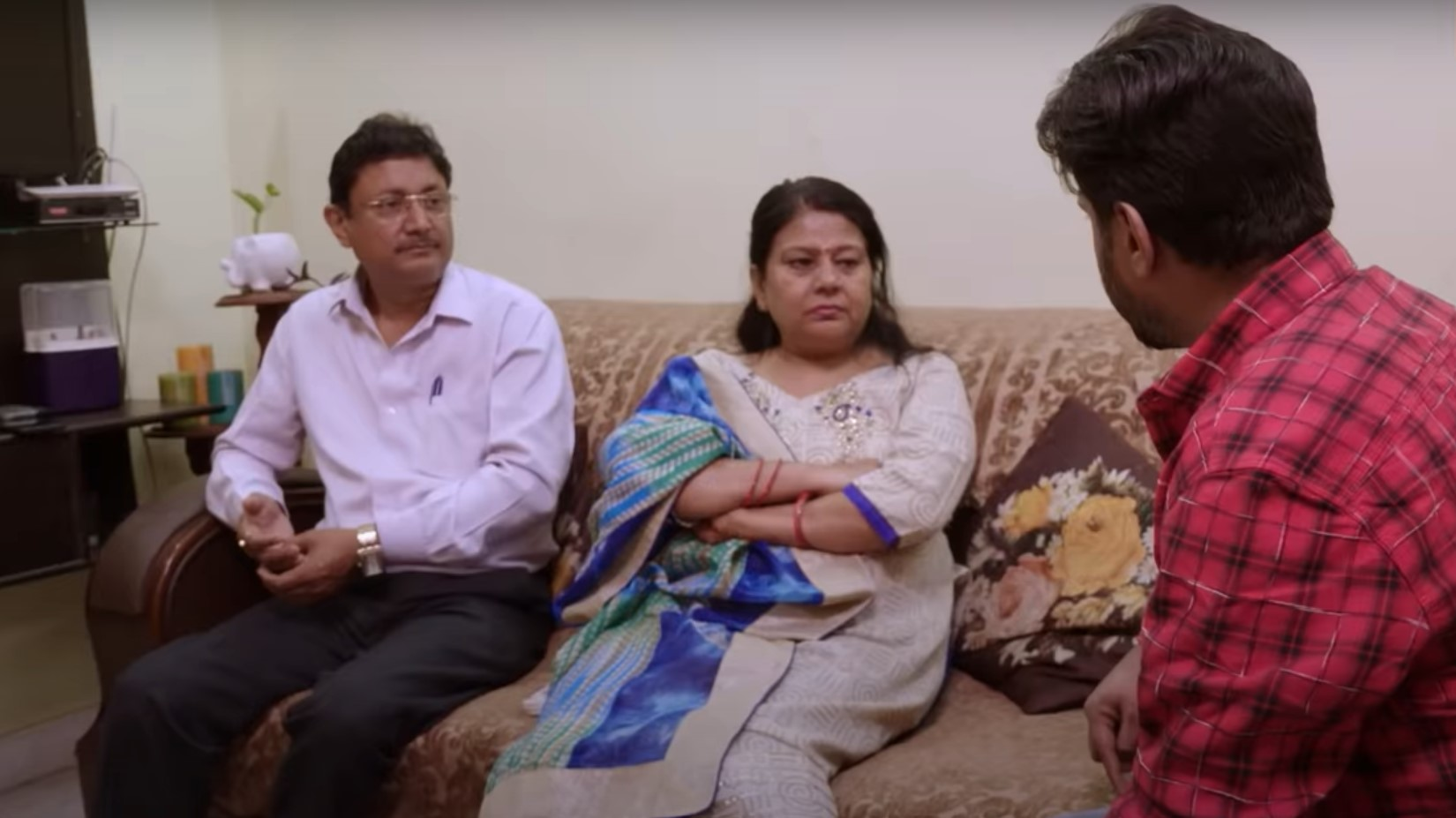 Sumit with his parents on 90 Day Fiancé