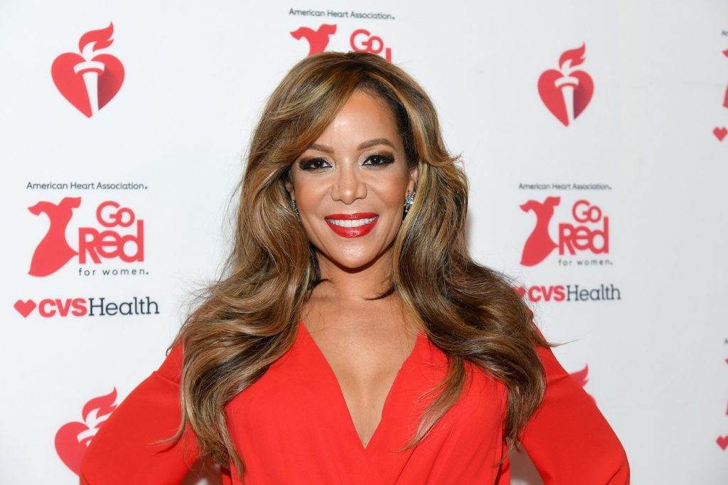 'The View's' Sunny Hostin attends The American Heart Association's Go Red for Women Red Dress Collection 2020 at Hammerstein Ballroom