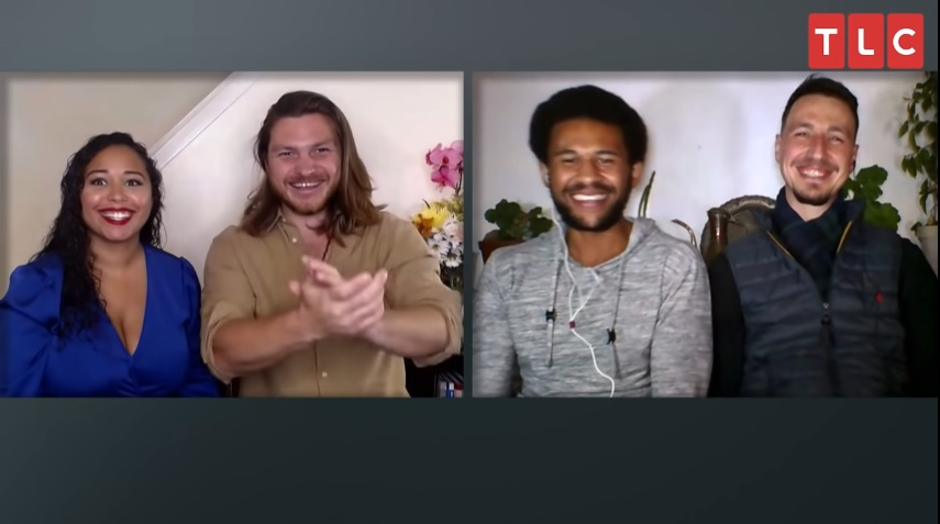 Tania Maduro, Syngin Colchester, Andrew, and James on '90 Day Fiancé Happily Ever After'