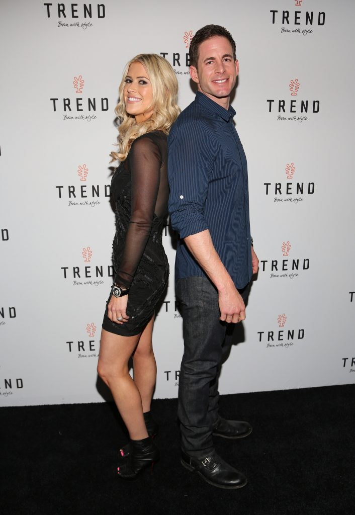 Christina Anstead and Tarek El Moussa attend and event at Temple House on March 12, 2016 in Miami Beach, Florida