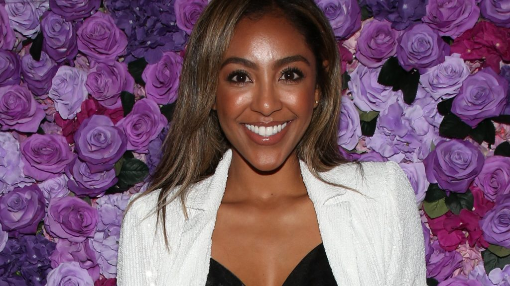 """'The Bachelorette' and 'The Bachelor' star Reality TV Personality Tayshia Adams attend the screening of Lionsgate's """"I Still Believe"""" at Fairfax Cinemas on March 11, 2020 in West Hollywood, California."""