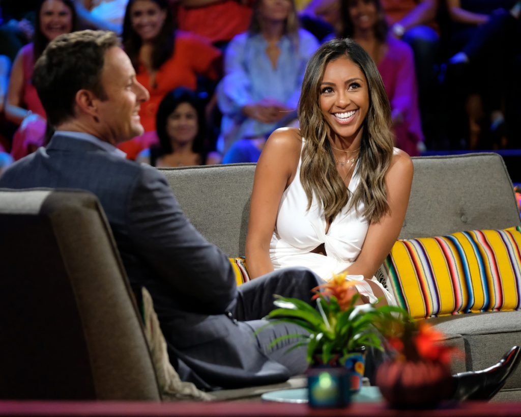 Tayshia Adams and Chris Harrison on 'Bachelor in Paradise'