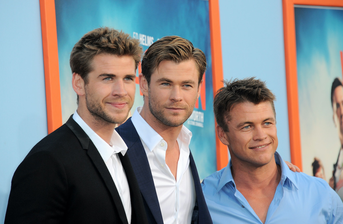 Liam Hemsworth, Chris Hemsworth, and Luke Hemsworth at the 'Vacation' premiere