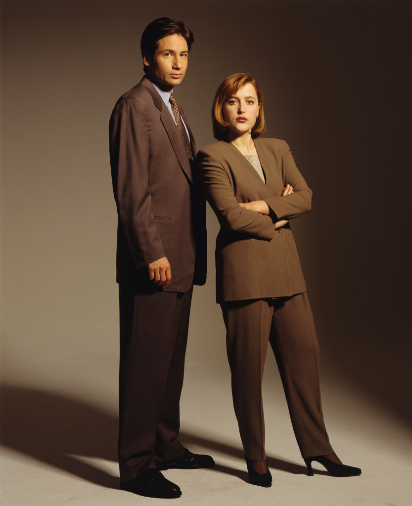X-Files cast members Gillian Anderson and David Duchovny