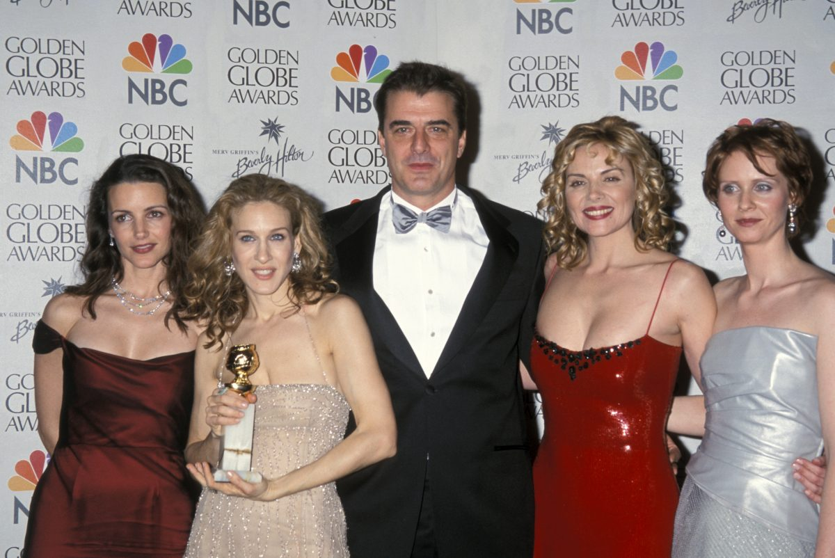 Kristin Davis, Sarah Jessica Parker, Chris Noth, Kim Cattral, and Cynthia Nixon at the Beverly Hilton Hotel
