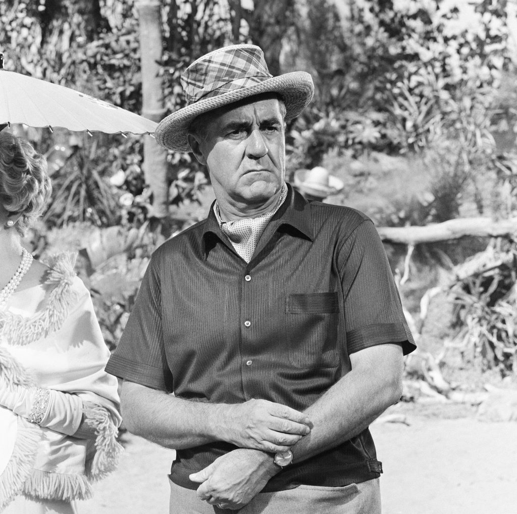 Thurston Howell III in front of trees