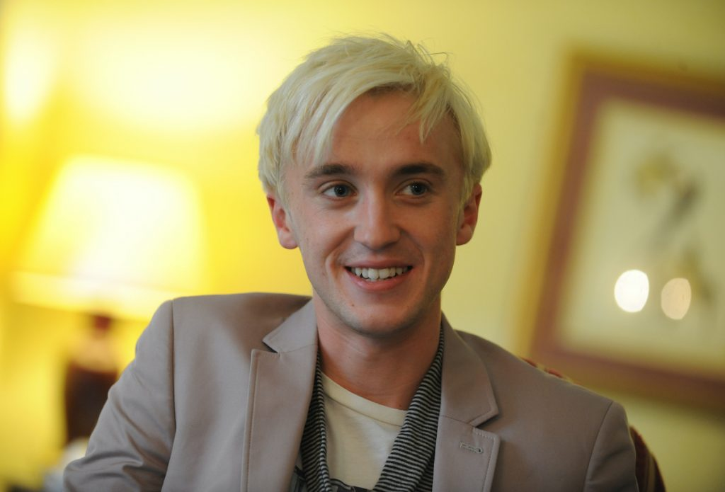 Tom Felton plays evil Draco Malfoy in the Harry Potter movies being interviewed at the Royal York Hotel