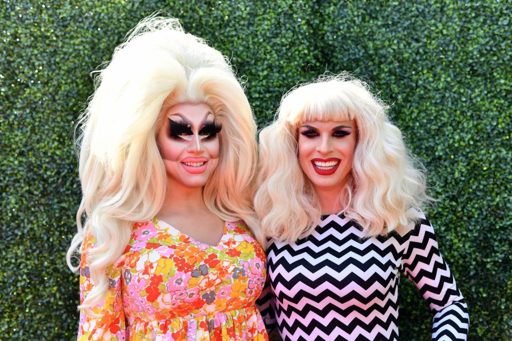 Trixie Mattel and Katya attend the 2019 MTV Movie and TV Awards