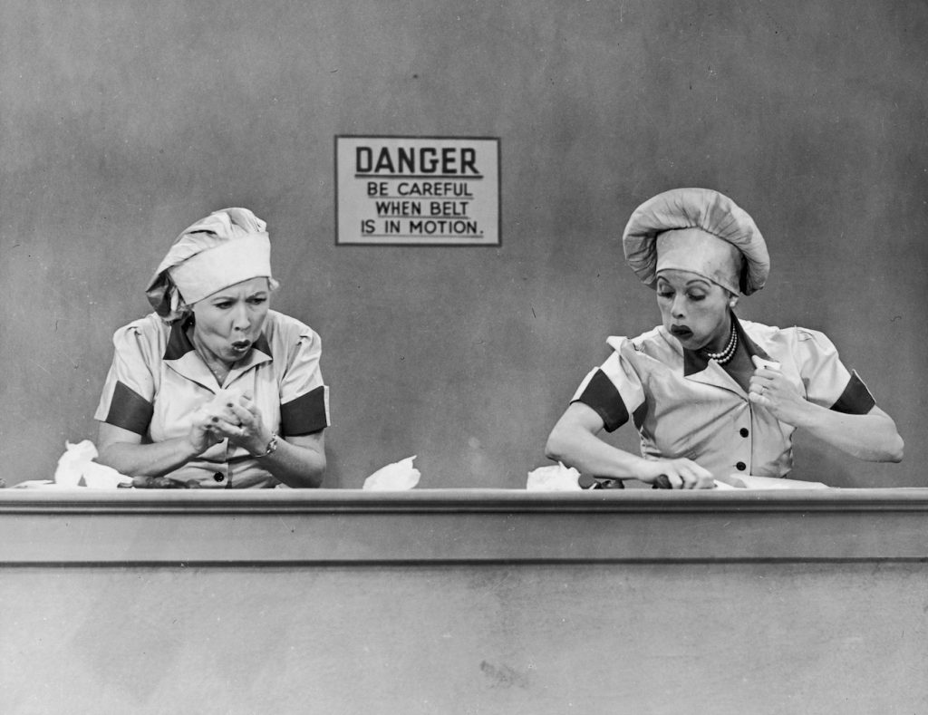 Vivian Vance and Lucille Ball of 'I Love Lucy