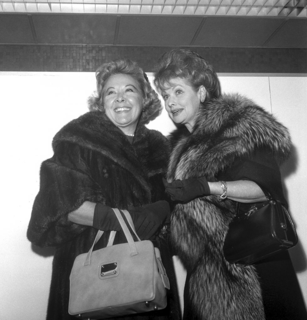 'The Lucy Show': Vivian Vance and Lucille Ball after arriving at New York's Idlewild Airport.