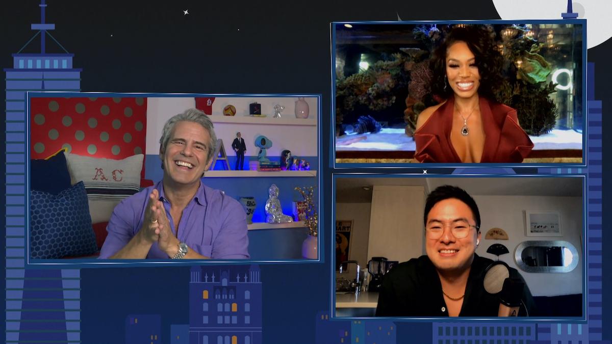 WATCH WHAT HAPPENS LIVE WITH ANDY COHEN @ HOME Andy Cohen, Bowen Yang, Monique Samuels