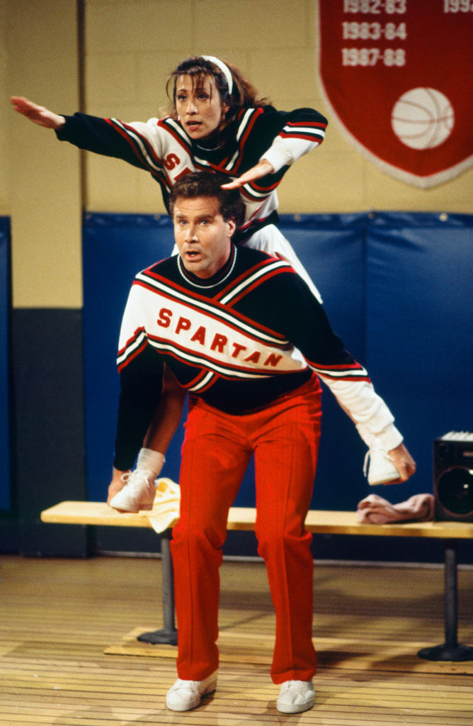 Saturday Night Live cast Will Ferrell and Cheri Oteri
