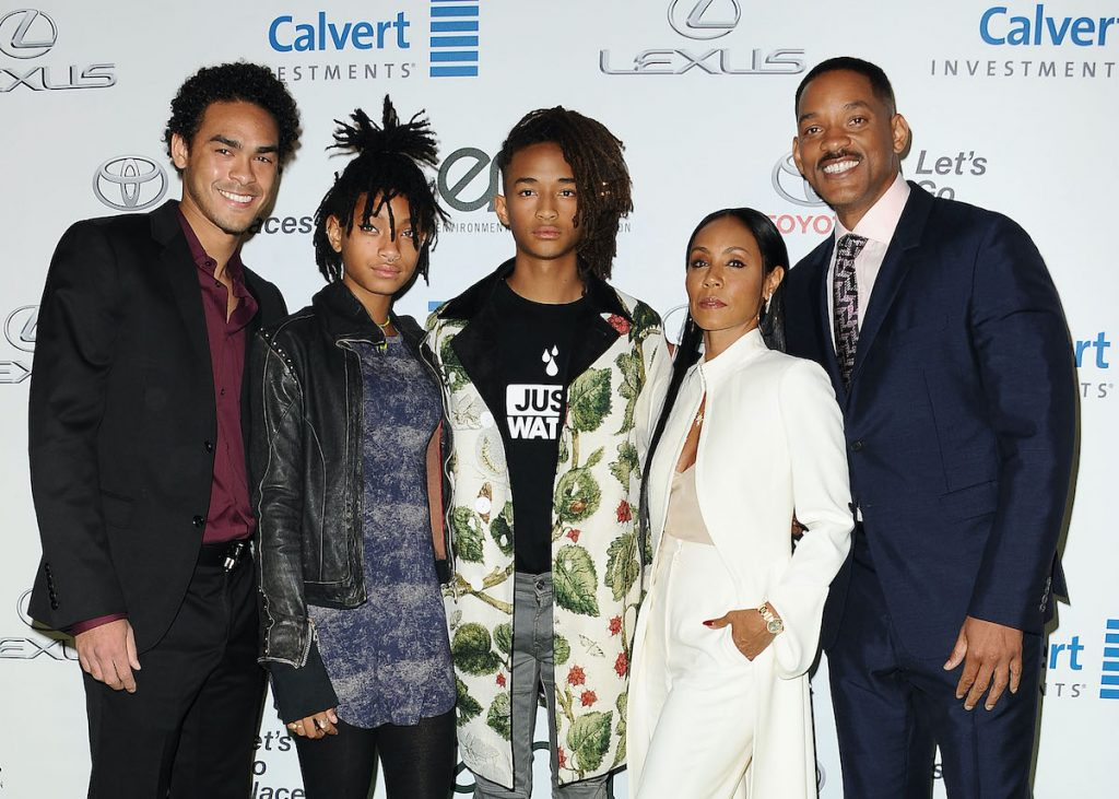 Will and Jada Smith with Trey, Jaden, and Willow Smith