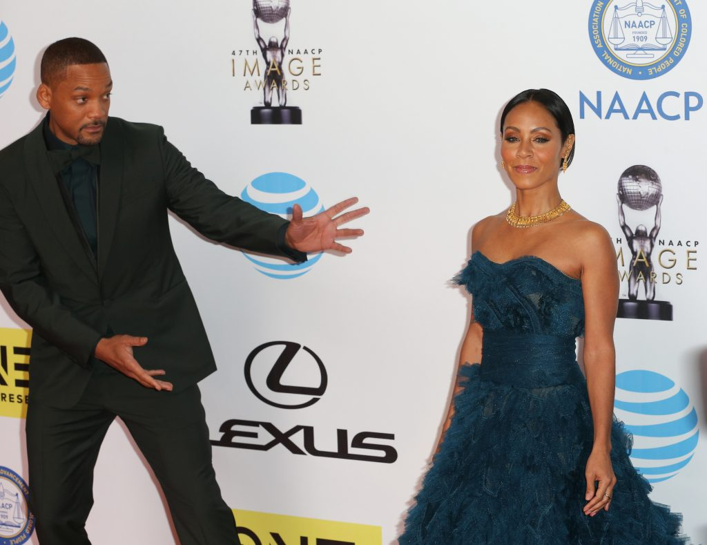 Will Smith (L) and Jada Pinkett Smith attend the 47th NAACP Image Awards