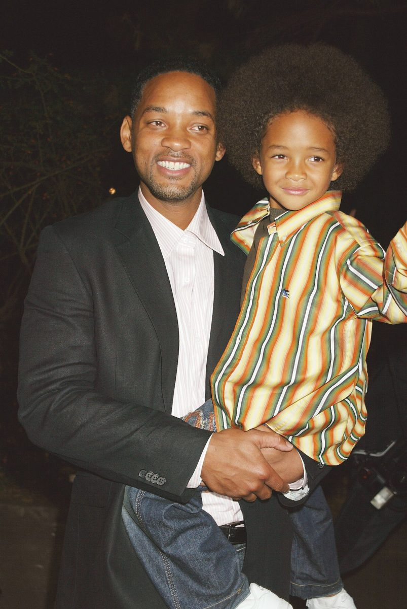 Will Smith and Jaden Smith at the premiere of 'Shark Tale'