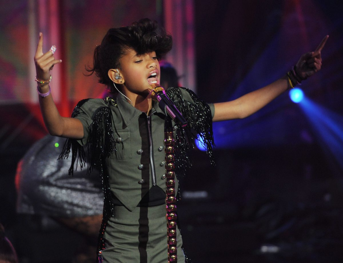 Willow Smith performs onstage during Dick Clark's New Year's Rockin' Eve With Ryan Seacrest 2011 at Center Staging on December 31, 2010 in Burbank, California.