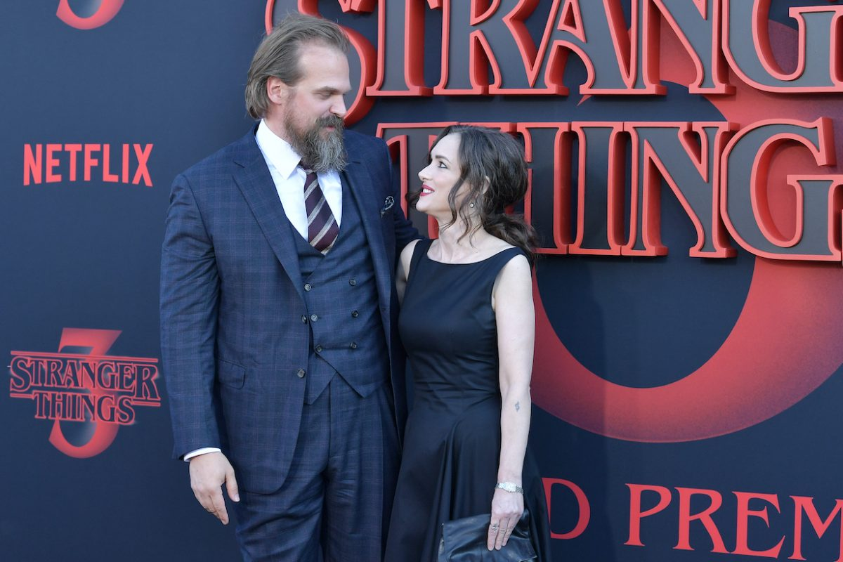 David Harbour and Winona Ryder attend the premiere of Netflix's 'Stranger Things' Season 3
