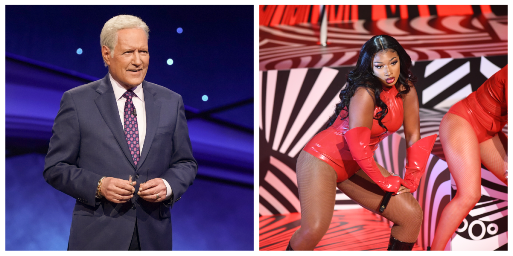 Alex Trebek and Megan Thee Stallion