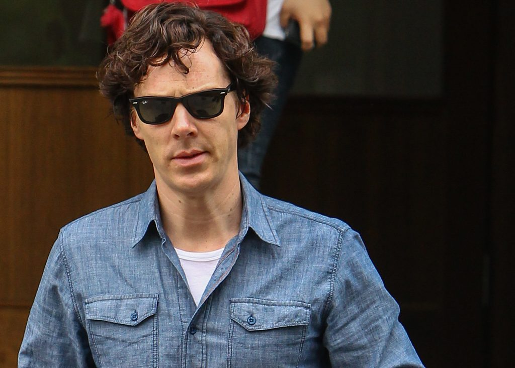 Benedict Cumberbatch in front of a person