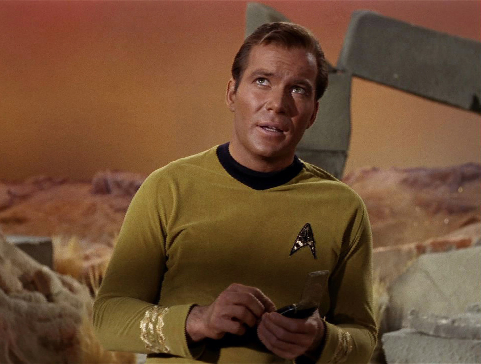 "William Shatner as Captain James T. Kirk in 'Star Trek the Original Series' Season 1 Episode 1 "" The Man Trap."""