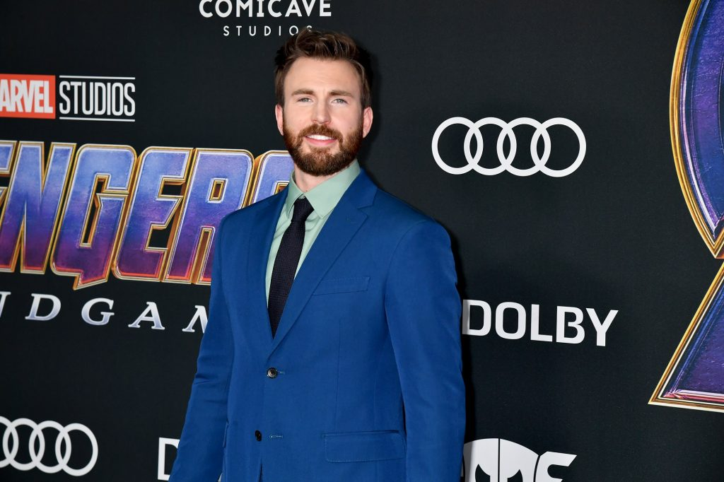 Chris Evans attends the world premiere of 'Avengers: Endgame' on April 22, 2019, in Los Angeles, California.
