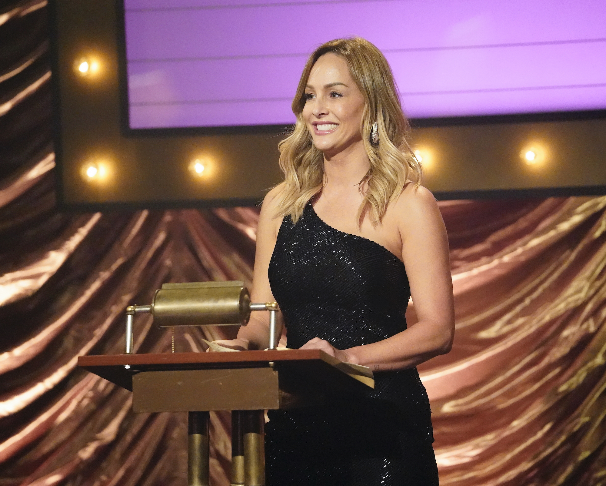 Clare Crawley in Week 3 of 'The Bachelorette' during the men's roast.