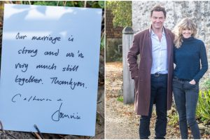 Dominic West and His Wife Share Handwritten Note Assuring Everyone Their Marriage Is Fine After He's Spotted With Lily James