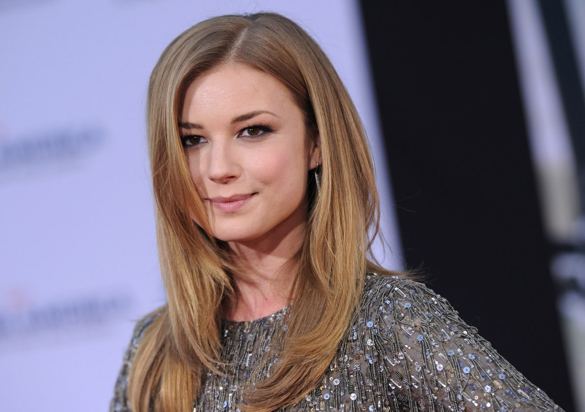 Emily VanCamp arrives at the Los Angeles premiere of 'Captain America: The Winter Soldier' on March 13, 2014 in Hollywood, California.