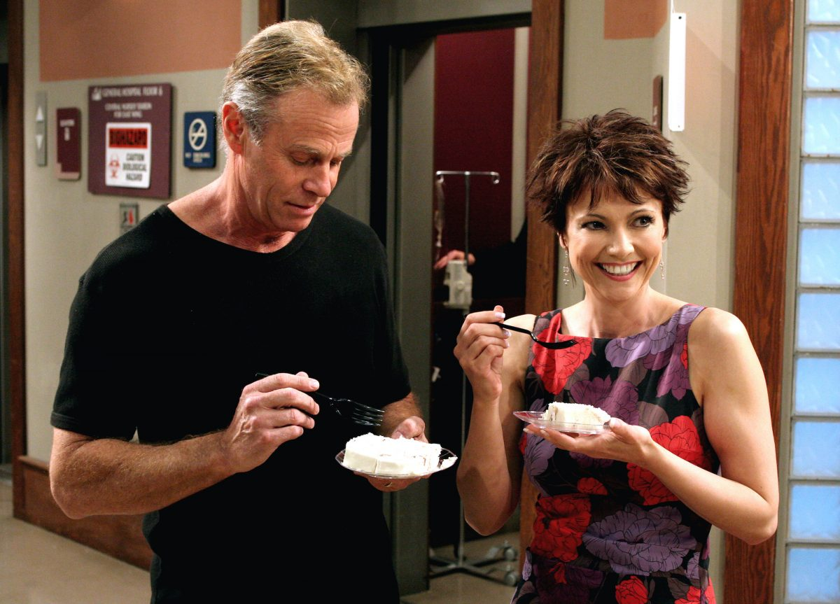 Tristan Rogers (Robert) and Emma Samms (Holly)