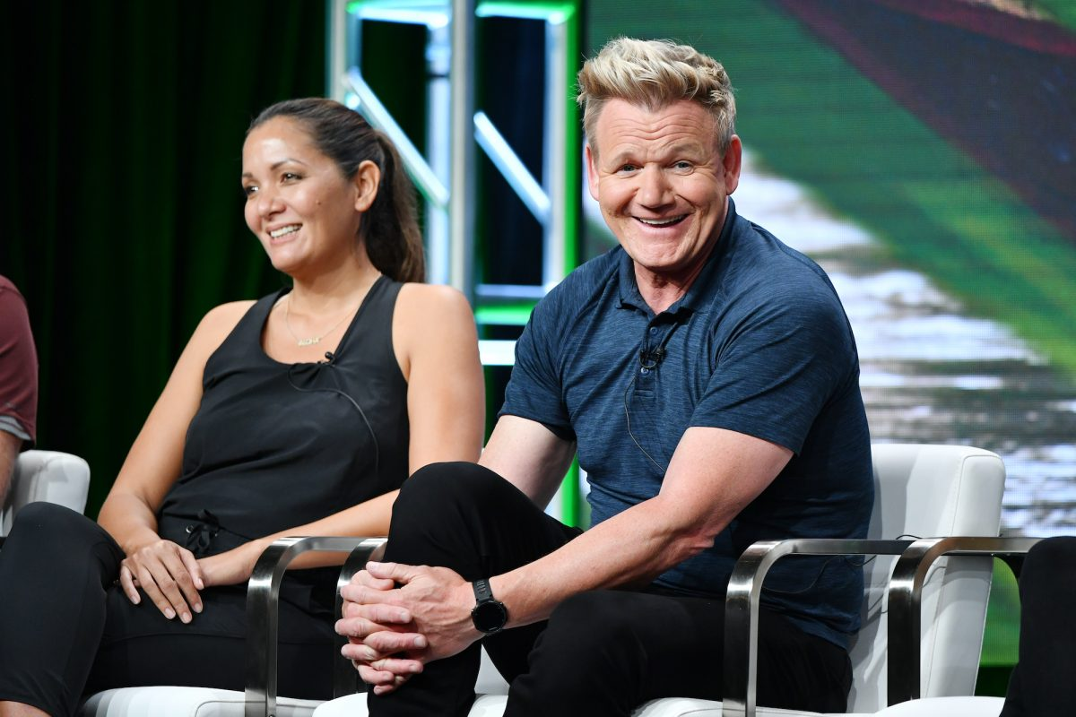 Kimi Werner and Gordon Ramsay
