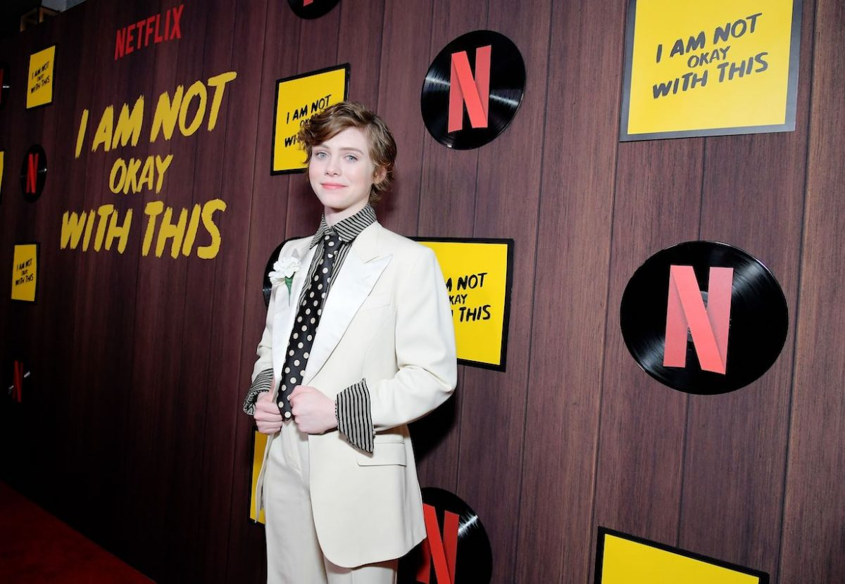 "Sophia Lillis attends the premiere of Netflix's ""I Am Not Okay With This"" at The London West Hollywood"