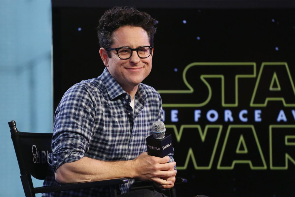 J. J. Abrams with a microphone
